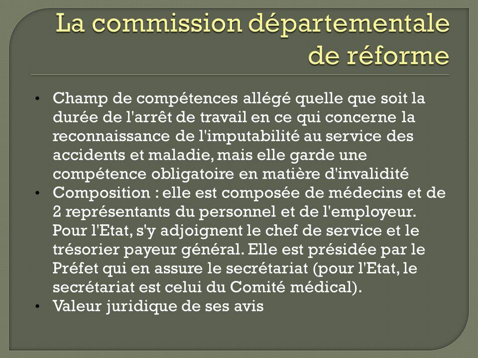 La commission départementale de réforme