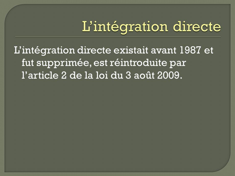 L'intégration directe