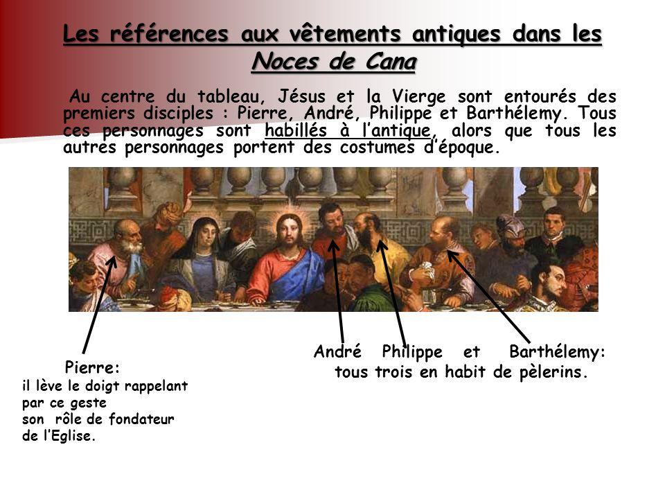 Les références aux vêtements antiques dans les Noces de Cana