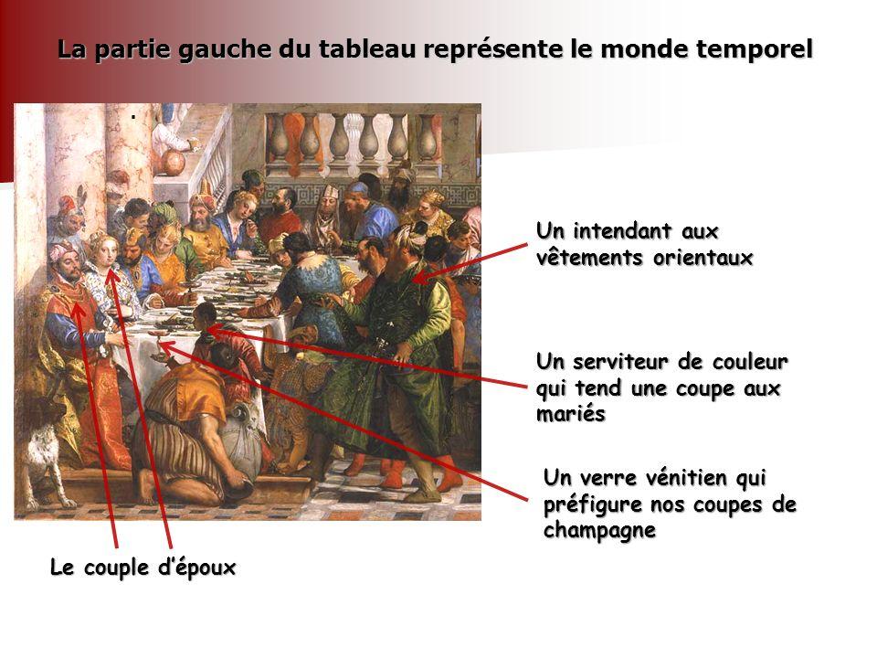 La partie gauche du tableau représente le monde temporel