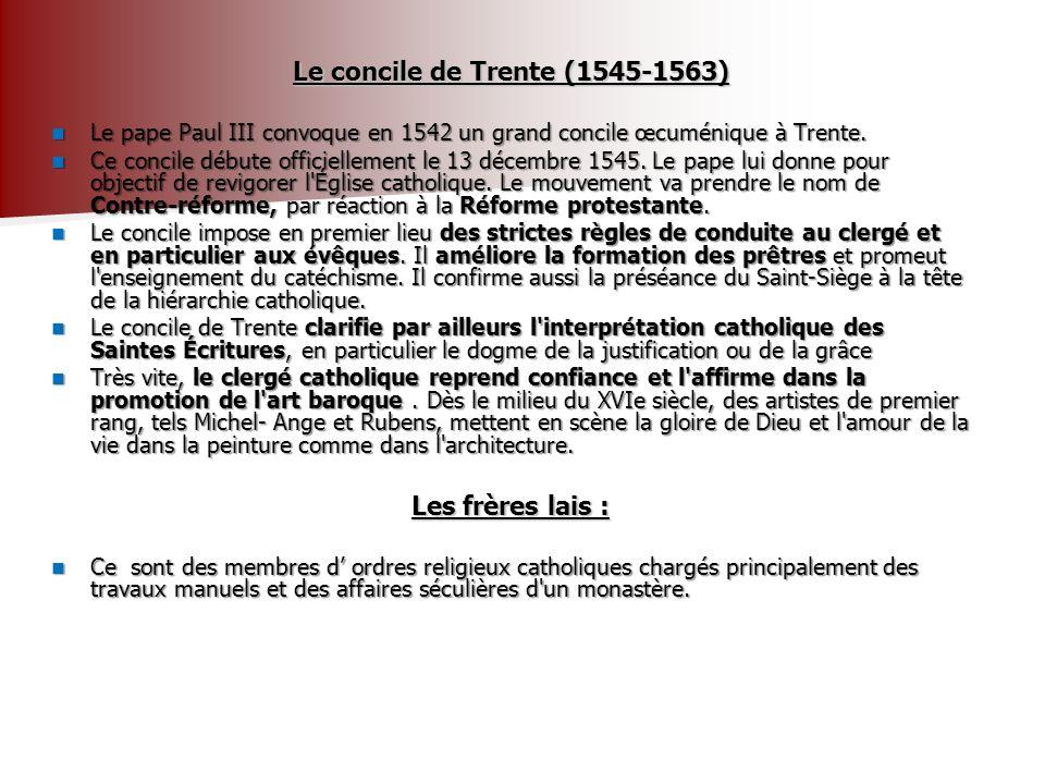 Le concile de Trente (1545-1563)