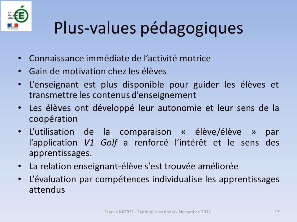Plus-values pédagogiques