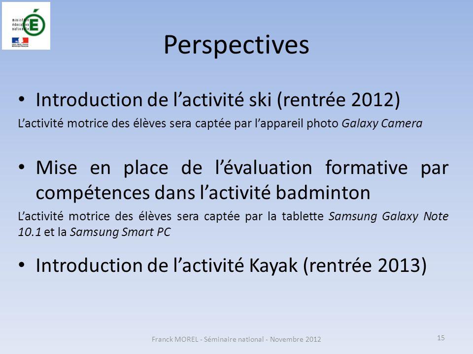 Franck MOREL - Séminaire national - Novembre 2012