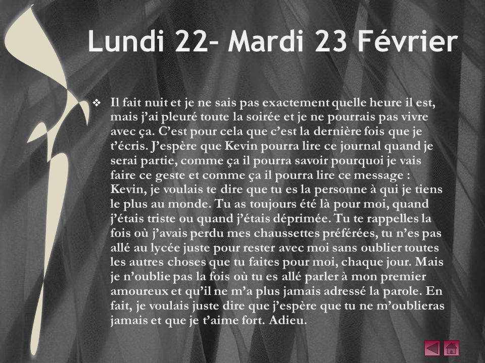 Lundi 22– Mardi 23 Février