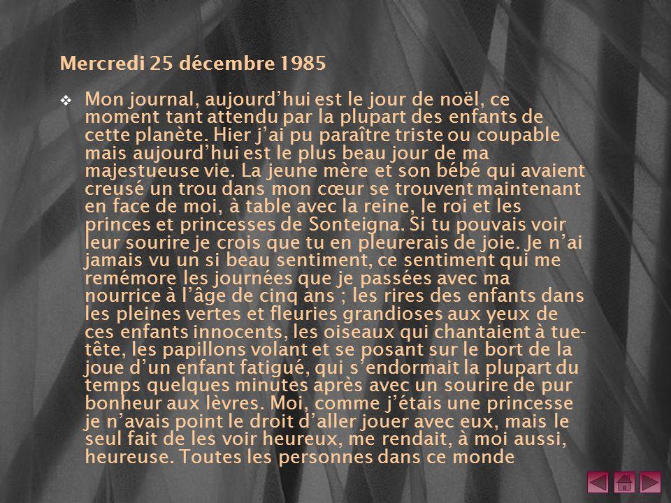 Mercredi 25 décembre 1985