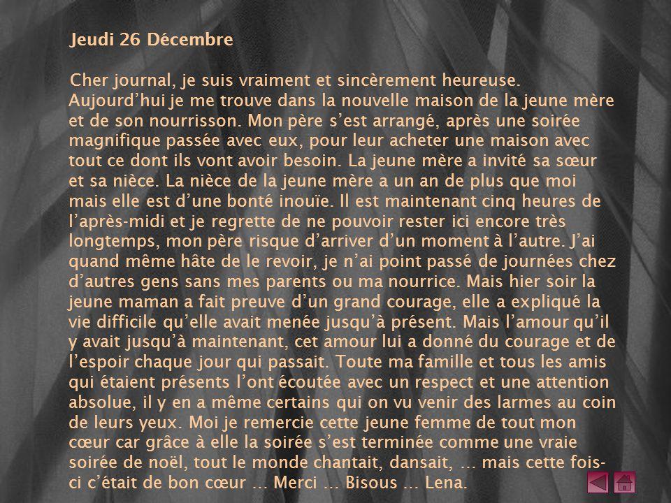 Jeudi 26 Décembre