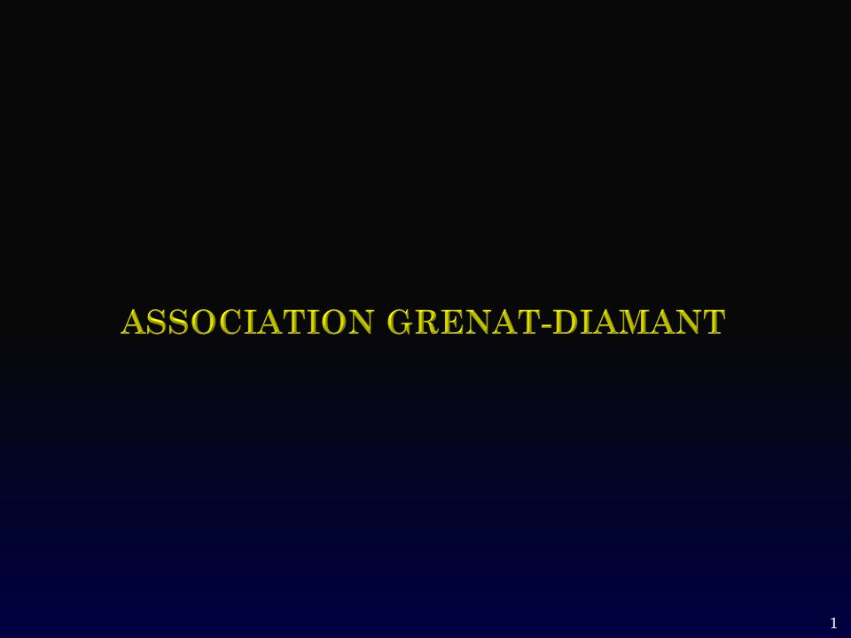 Association grenat-diamant