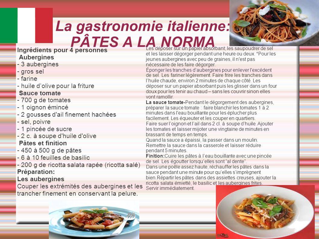 La gastronomie italienne: PÂTES A LA NORMA