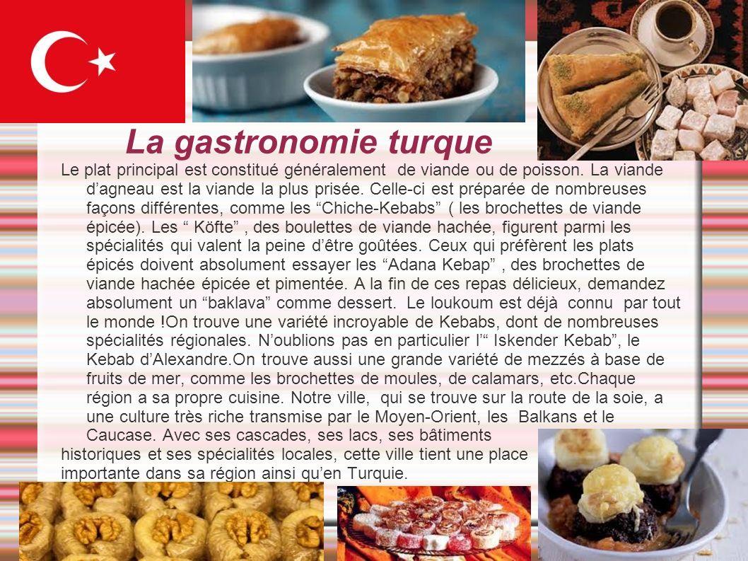 La gastronomie turque
