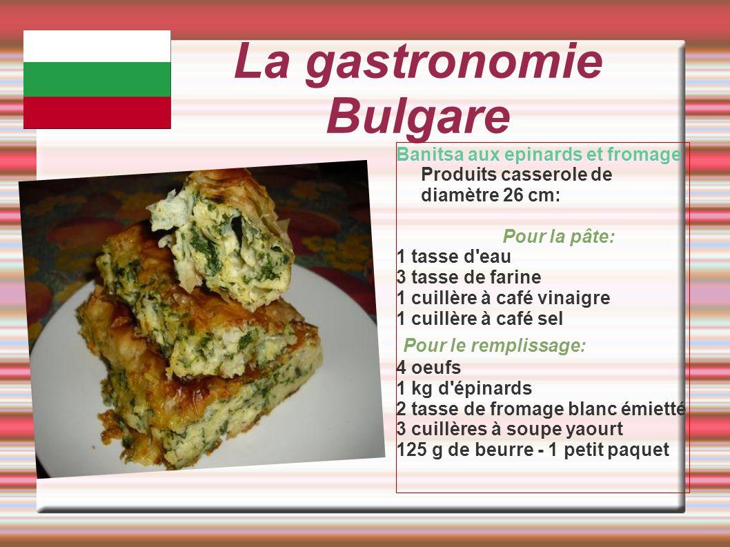 La gastronomie Bulgare