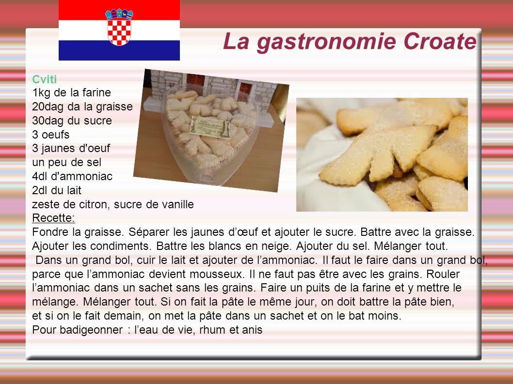 La gastronomie Croate Cviti 1kg de la farine 20dag da la graisse
