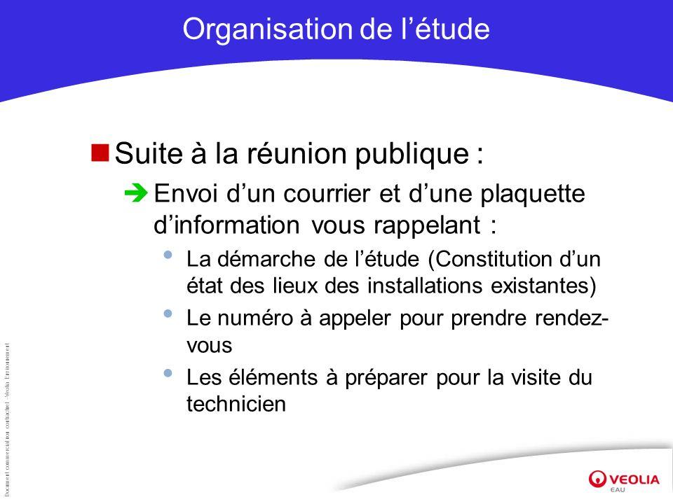Organisation de l'étude