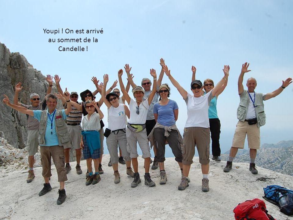 Youpi ! On est arrivé au sommet de la Candelle !