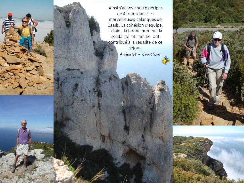 Ainsi s'achève notre périple de 4 jours dans ces merveilleuses calanques de Cassis.