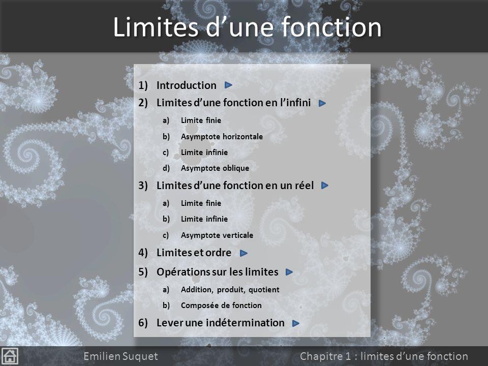 Limites d'une fonction