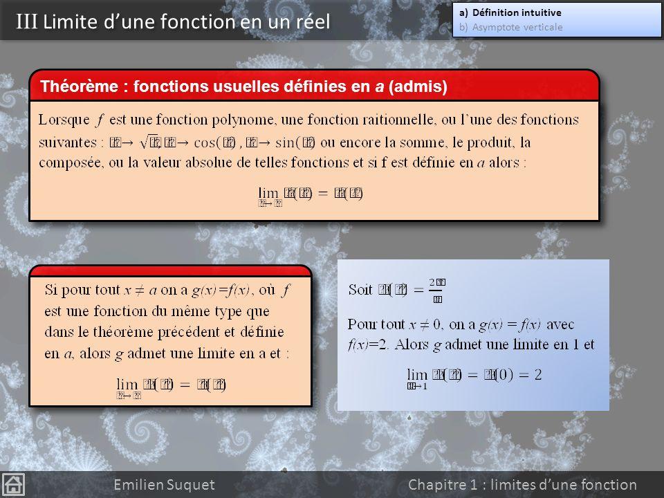 III Limite d'une fonction en un réel