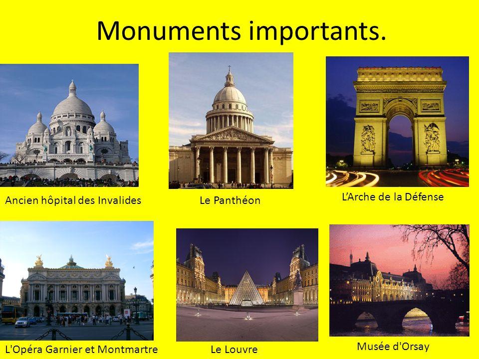 Monuments importants. L'Arche de la Défense
