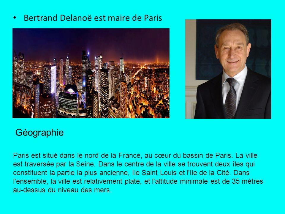 Bertrand Delanoë est maire de Paris