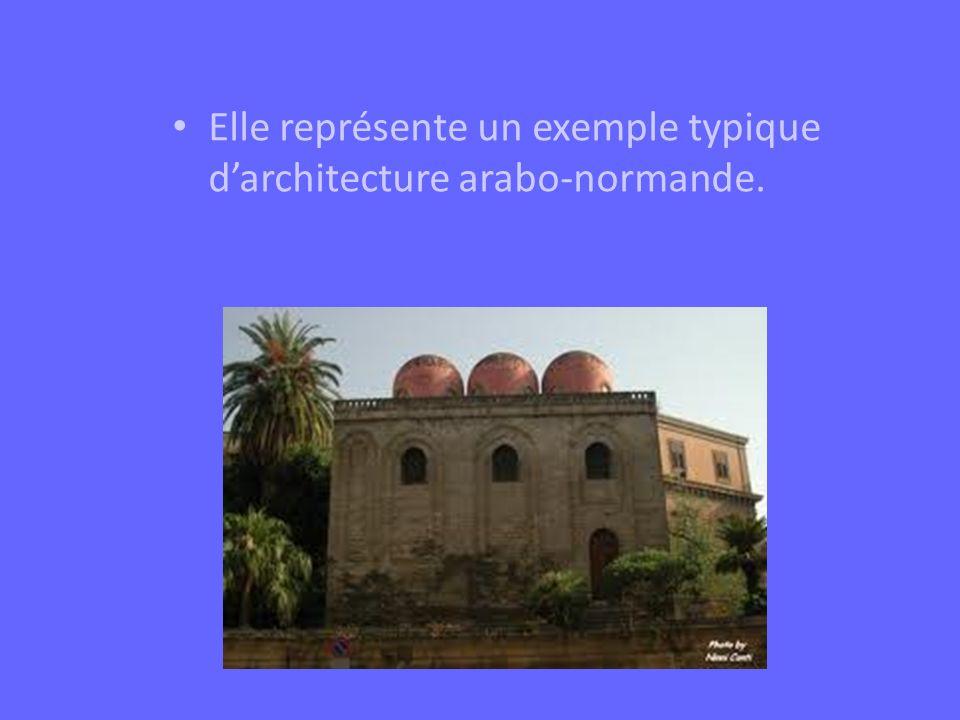 Elle représente un exemple typique d'architecture arabo-normande.