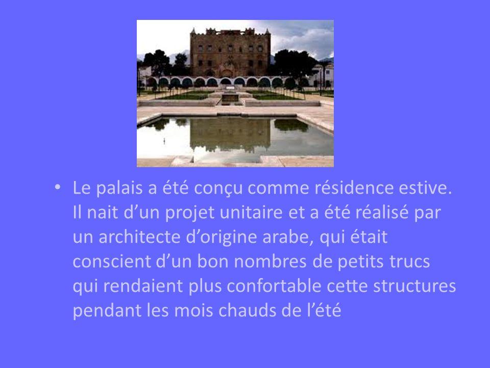 Le palais a été conçu comme résidence estive