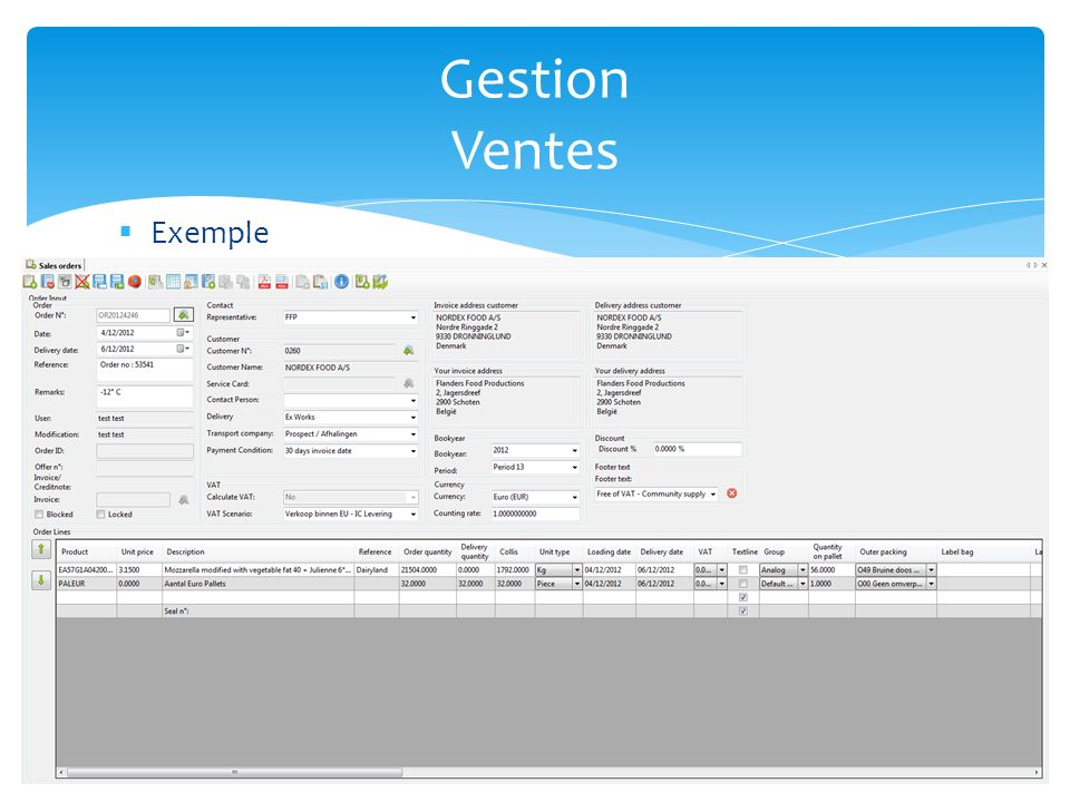 Gestion Ventes Exemple