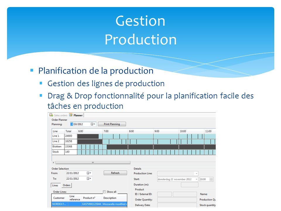 Gestion Production Planification de la production