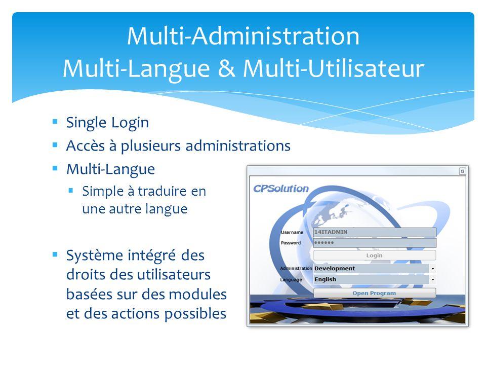 Multi-Administration Multi-Langue & Multi-Utilisateur