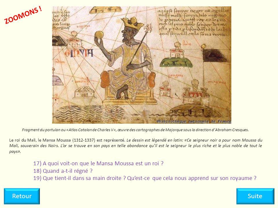 ZOOMONS ! Fragment du portulan ou «Atlas Catalan de Charles V», œuvre des cartographes de Majorque sous la direction d'Abraham Cresques.