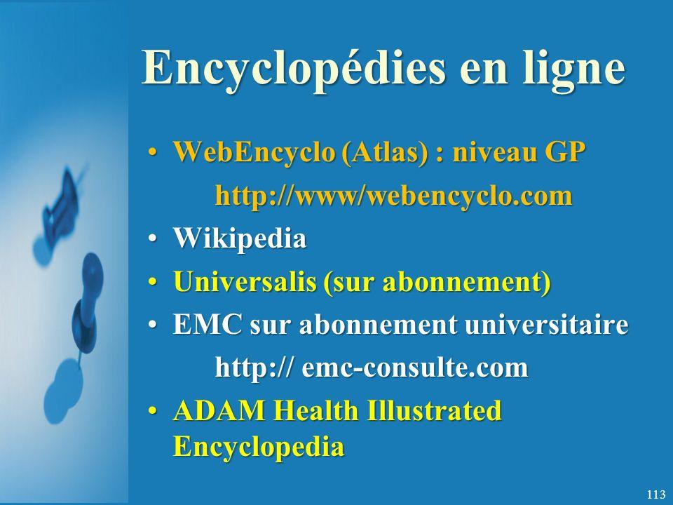 Encyclopédies en ligne