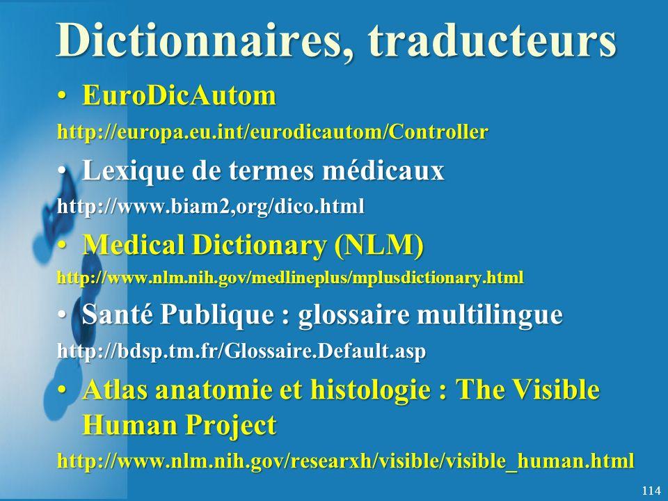 Dictionnaires, traducteurs