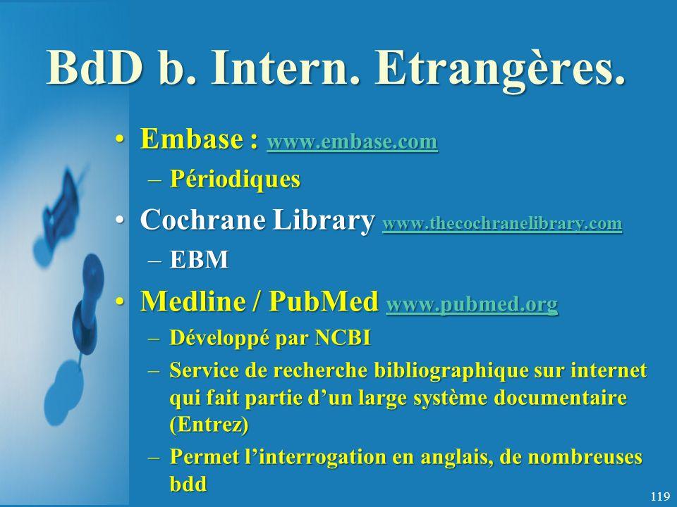 BdD b. Intern. Etrangères.