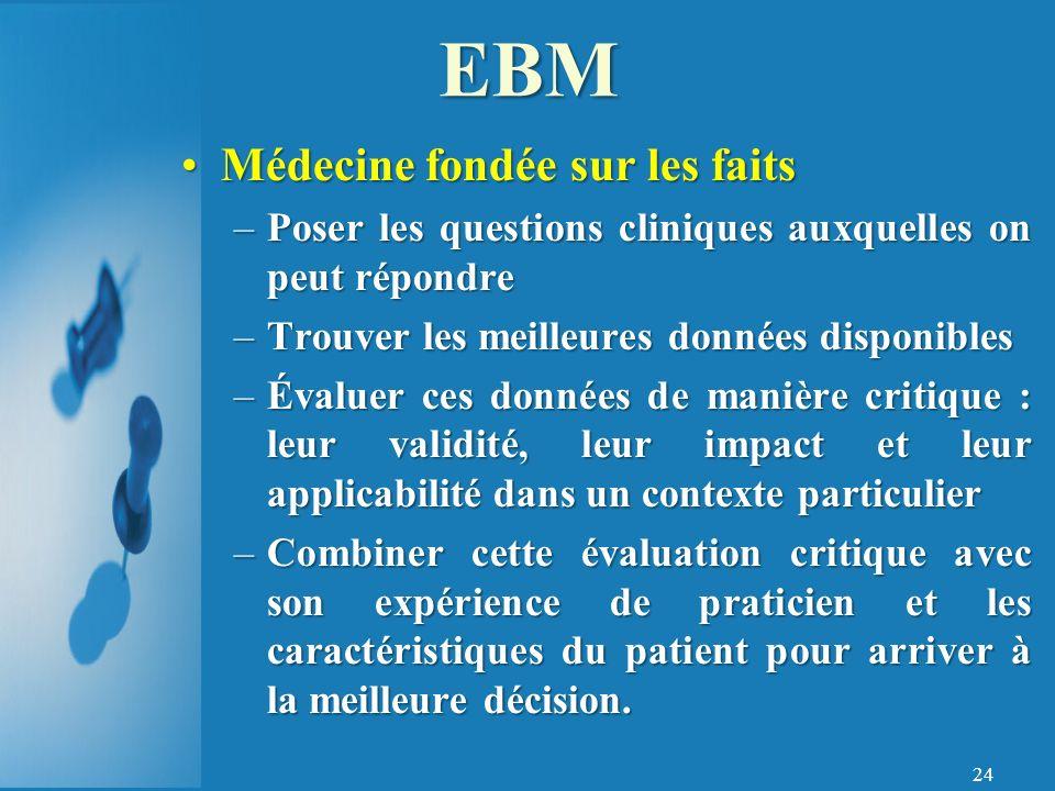 EBM Médecine fondée sur les faits