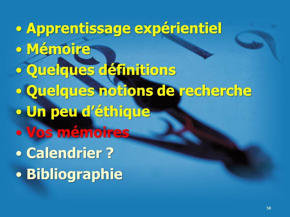 Apprentissage expérientiel