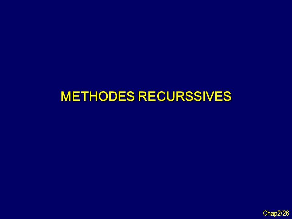METHODES RECURSSIVES