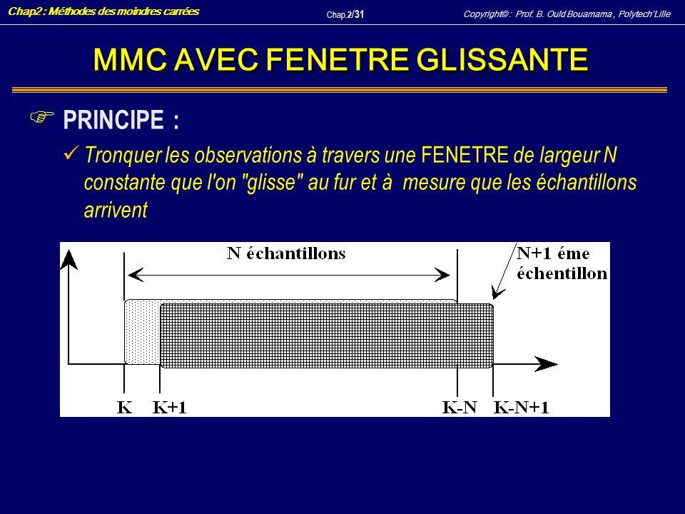 MMC AVEC FENETRE GLISSANTE