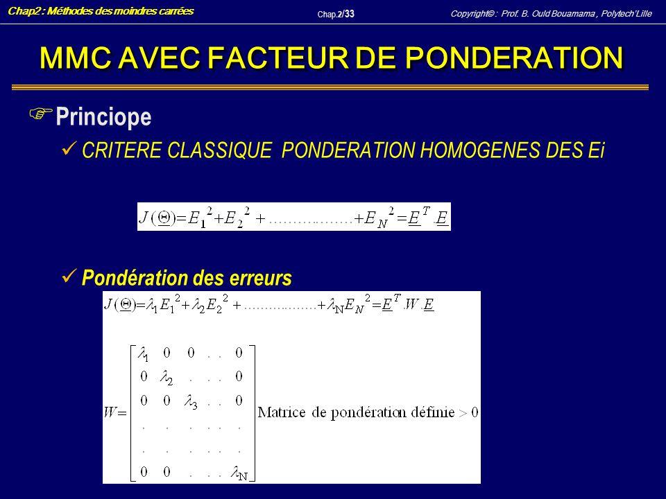 MMC AVEC FACTEUR DE PONDERATION