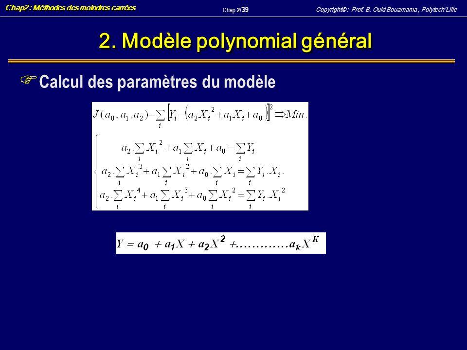 2. Modèle polynomial général