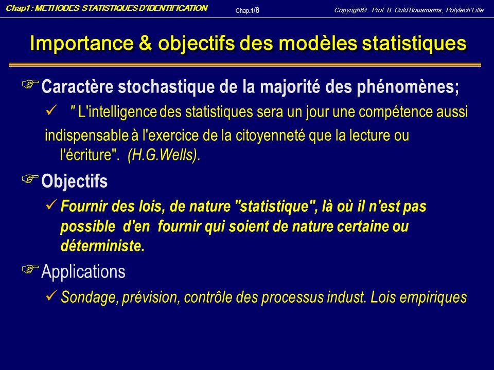 Importance & objectifs des modèles statistiques