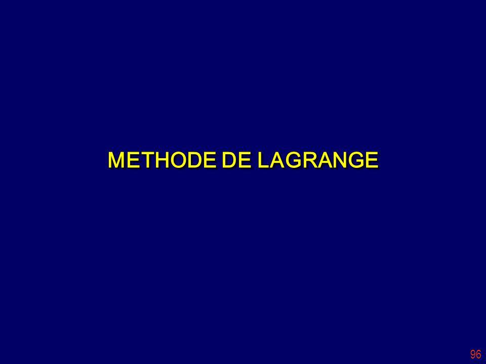 METHODE DE LAGRANGE