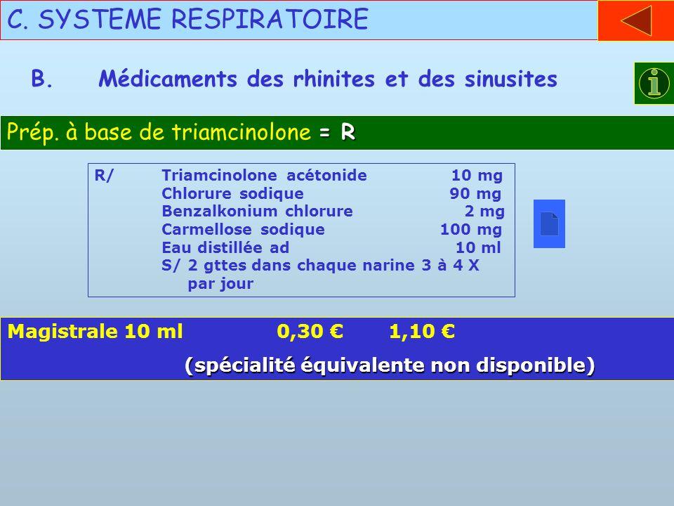 C. SYSTEME RESPIRATOIRE