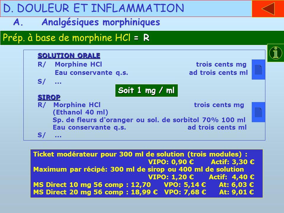 D. DOULEUR ET INFLAMMATION