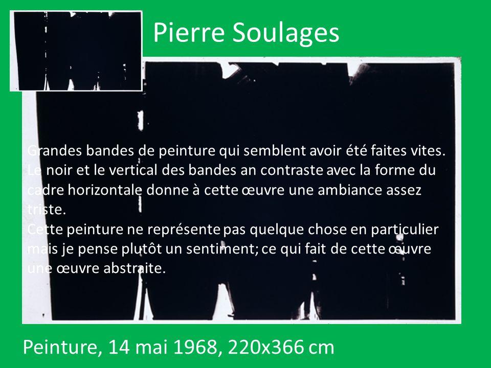 Pierre Soulages Peinture, 14 mai 1968, 220x366 cm