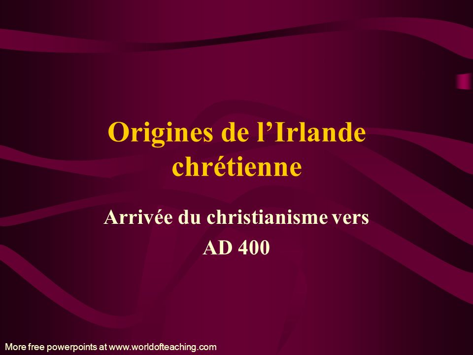 Origines de l'Irlande chrétienne