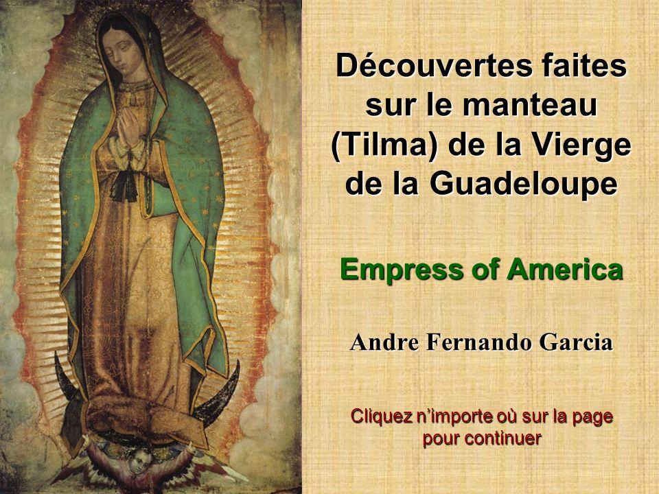 Découvertes faites sur le manteau (Tilma) de la Vierge de la Guadeloupe Empress of America Andre Fernando Garcia Cliquez n'importe où sur la page pour continuer