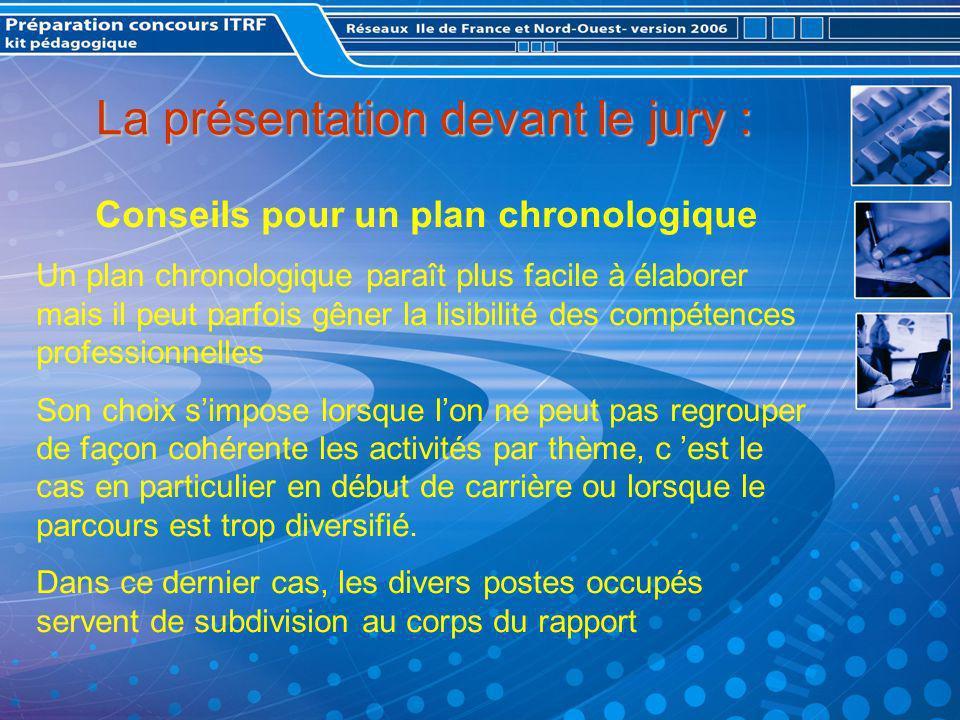La présentation devant le jury :