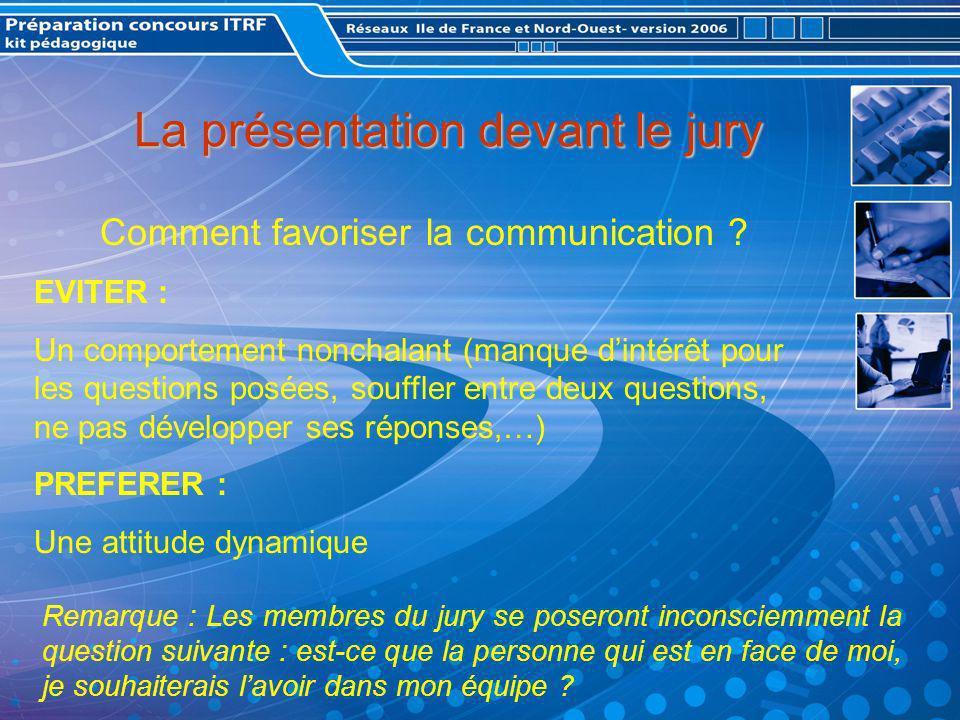 La présentation devant le jury