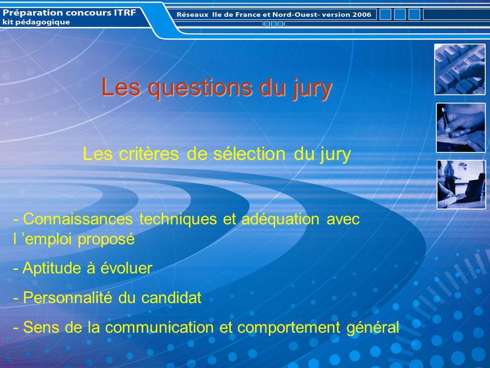 Les critères de sélection du jury