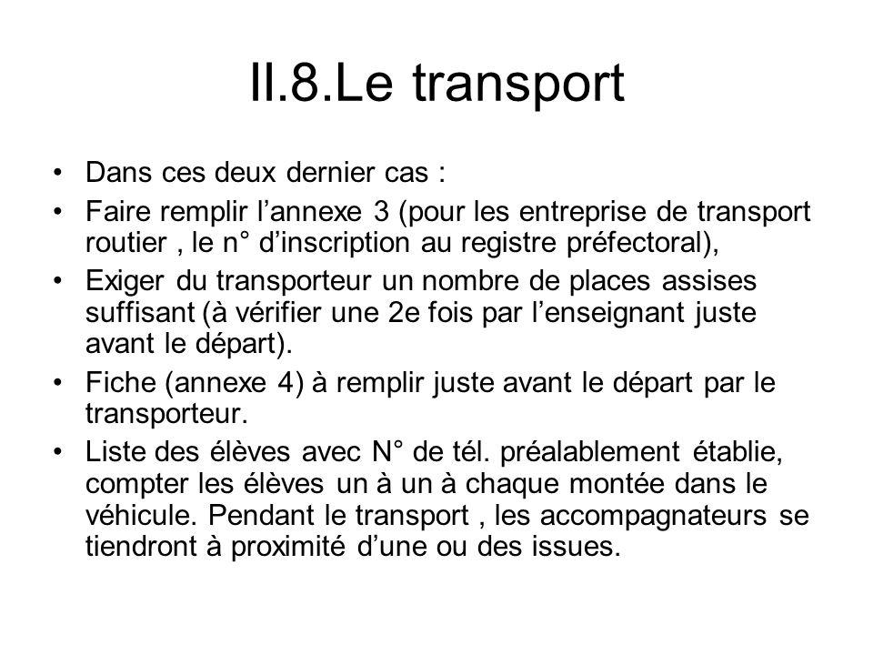 II.8.Le transport Dans ces deux dernier cas :