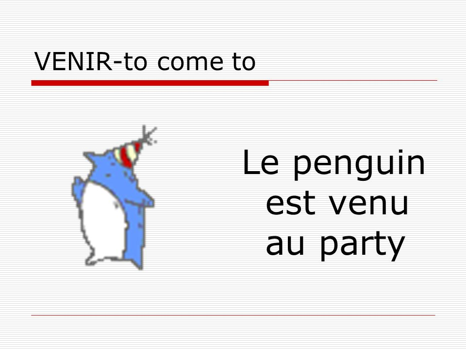 Le penguin est venu au party
