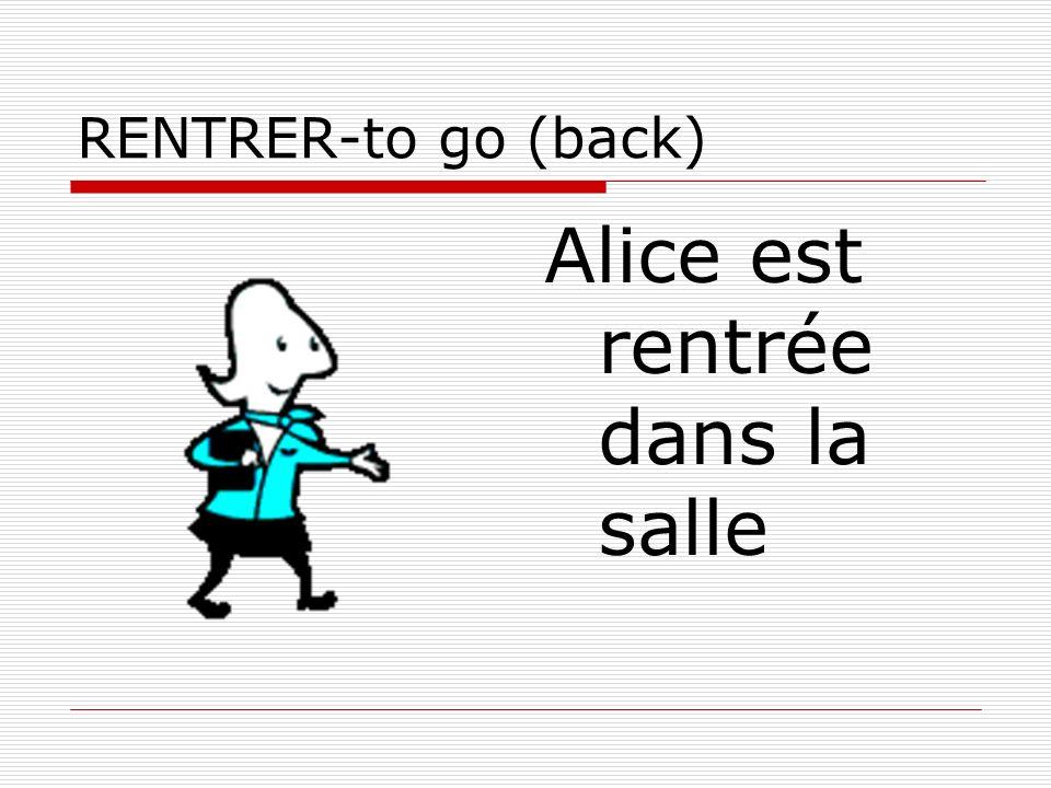 Alice est rentrée dans la salle
